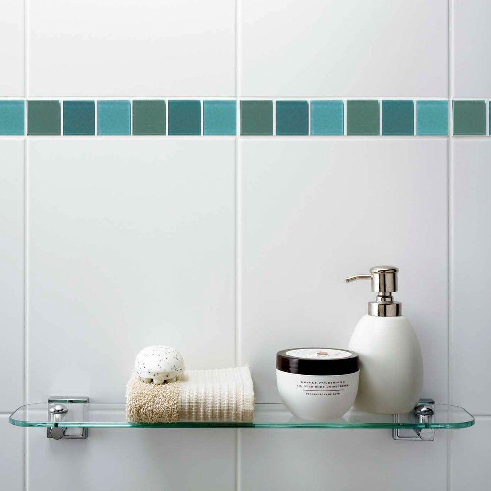 Vitrose Seaspray Border Tile Contempory Glass Borders Tiles Genesis ...