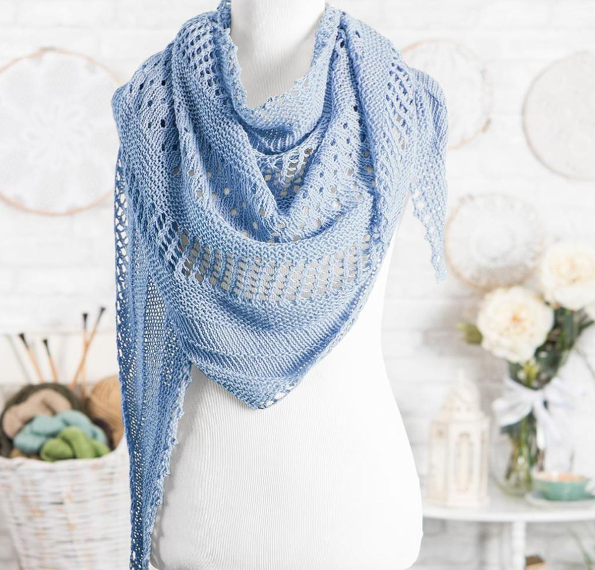 Over the Sea to Skye Lace Shawl Knitting Kit | Shawl, Yarns and Patterns