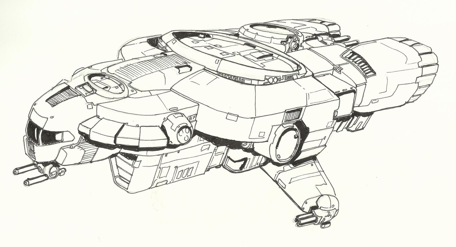 Yz Armed Freighter Wip By Handofmanos