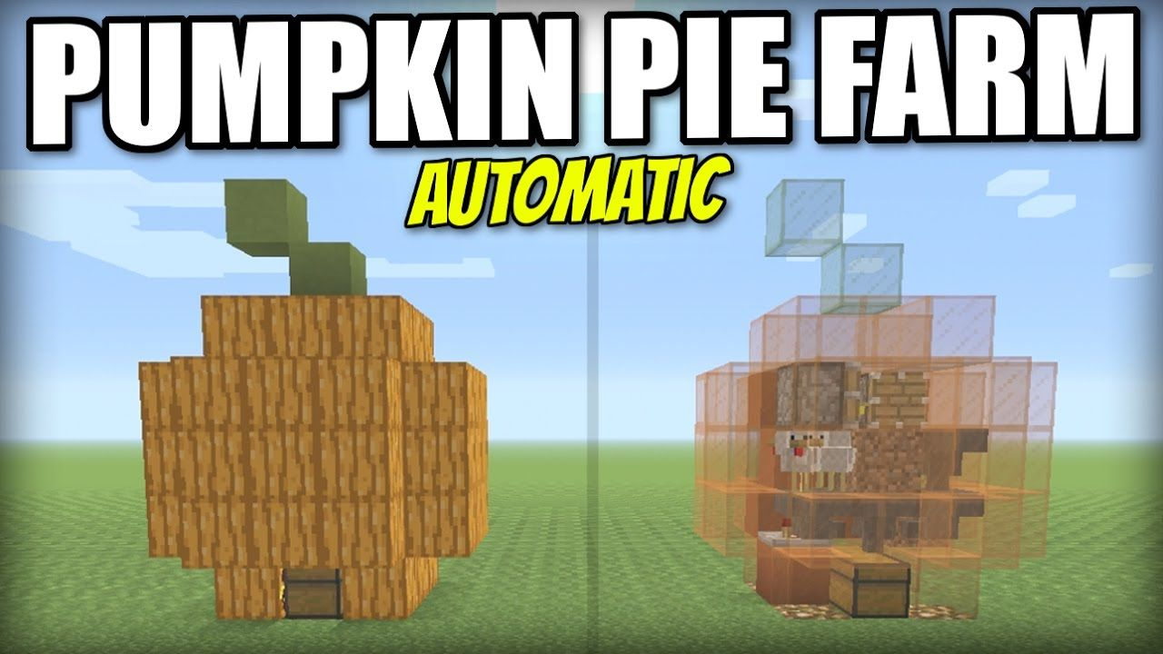 Minecraft PS AUTOMATIC PUMPKIN PIE FARM Tutorial PE Xbox - Minecraft spiele ps3