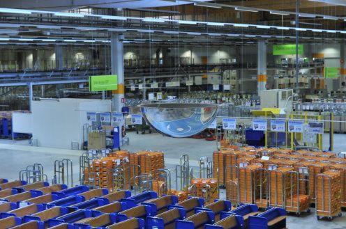 Plate-forme Industrielle Courrier (PIC) de Wissous : vue générale du site © photo André Tudela, La Poste, DR.