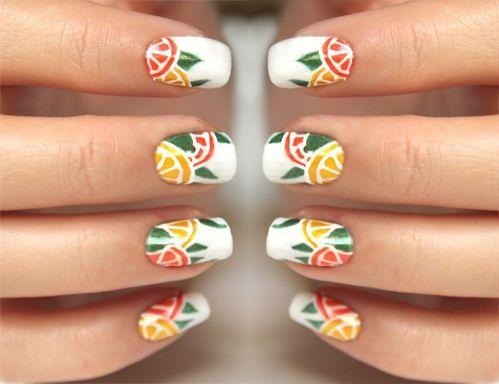 DIY Citrus nails for fun!