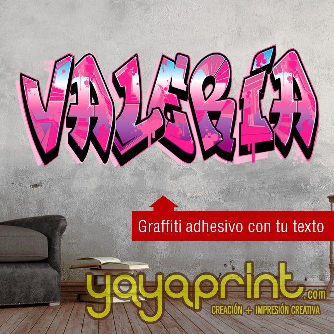 Graffiti De Tu Nombre Personalizado En Vinilo Adhesivo A Cualquier