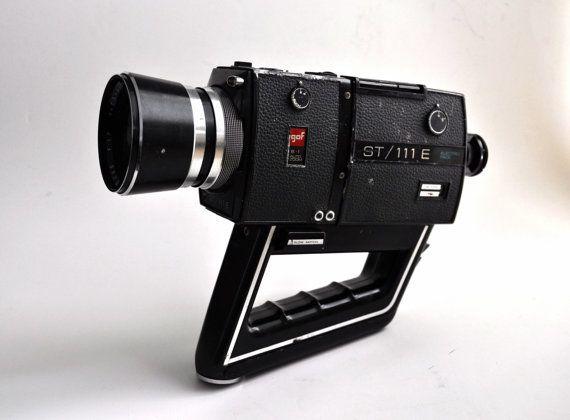 1971 Gaf St 111 E Video Camera 8mm Super8 Movie Film 1970s 70s Sci Fi Space Age Futuristic Retro Design Video Camera Photography Camera Camera Photography