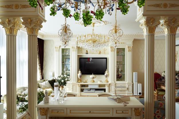 35 Modern Interior Design Ideas Incorporating Columns Into Spacious Room Design Classic Style Interior Classic Interior Design Interior Design Principles