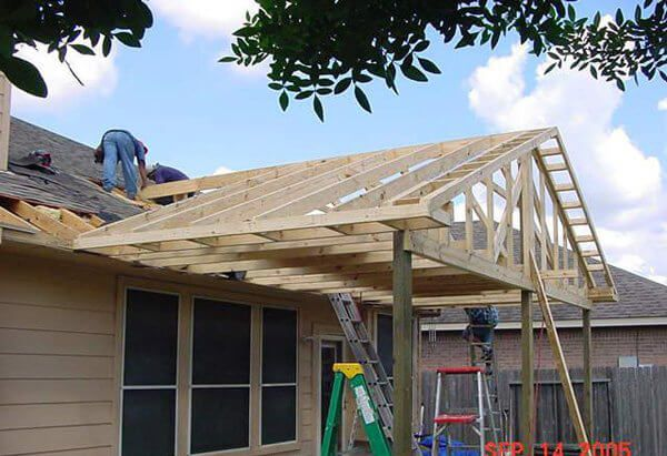 Hip Roof Patio Cover Plans Unique On Home For Gable Framing Plan