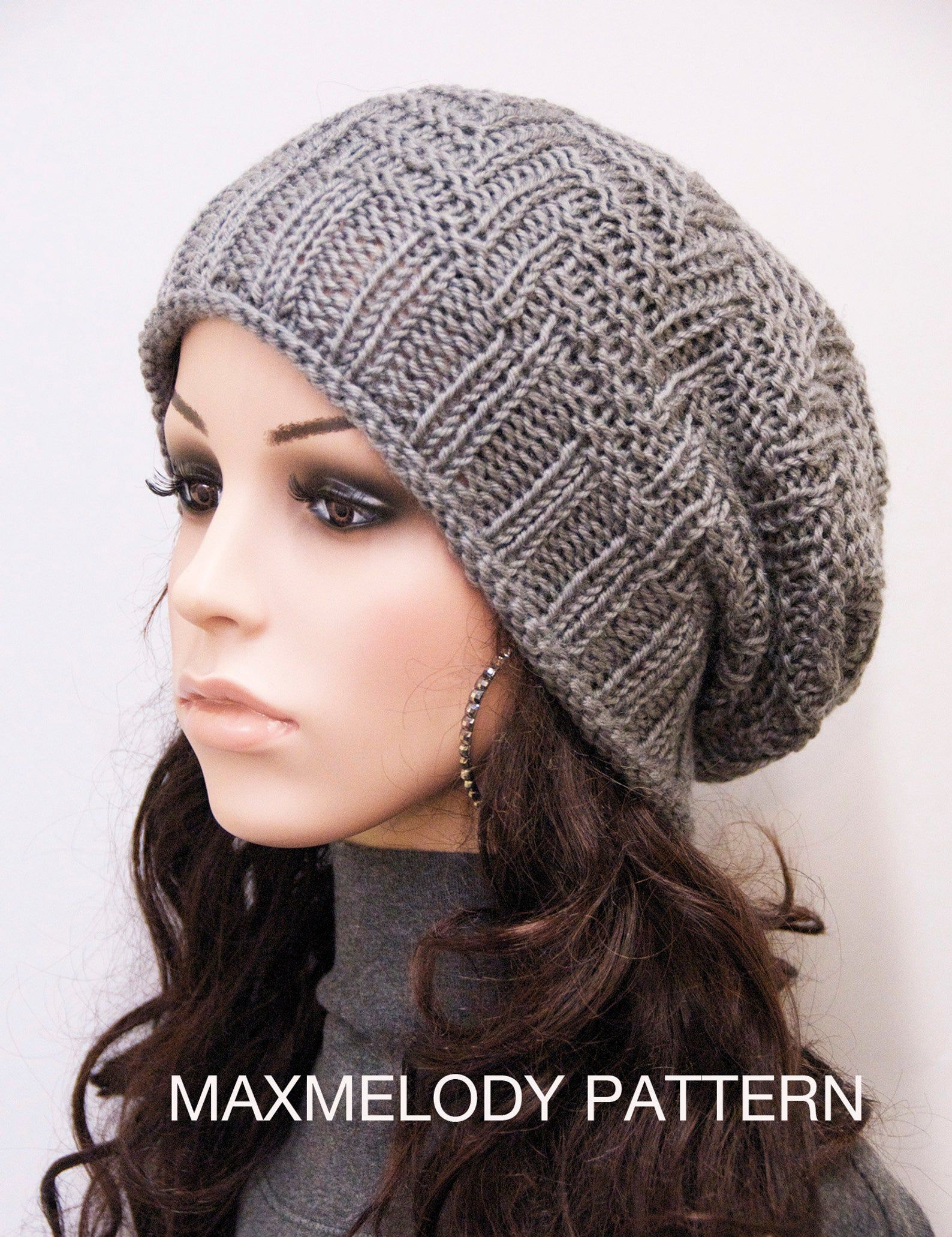 Instant Download Knitting Pattern - Oversized Slouchy Hat ...