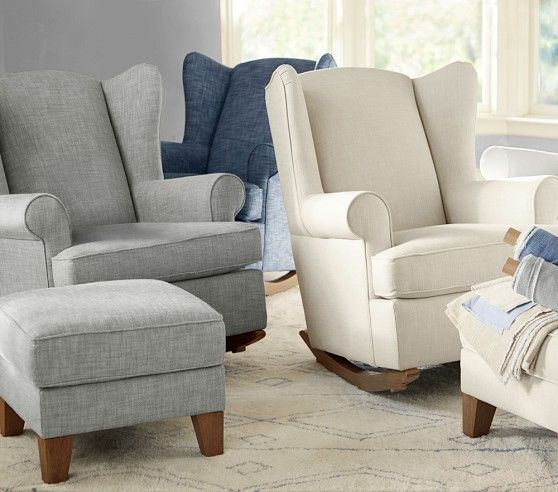 Wingback Convertible Rocking Chair Amp Ottoman Nursery