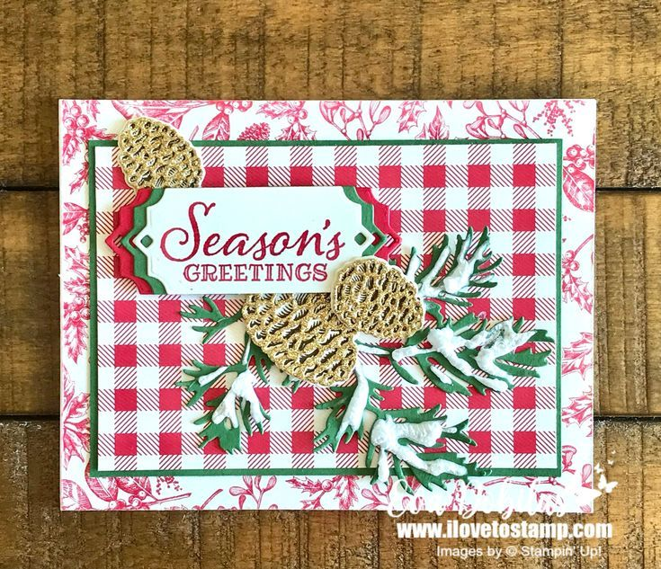 Seasons Greetings with Peaceful Boughs | I Love to Stamp #onlineclasses