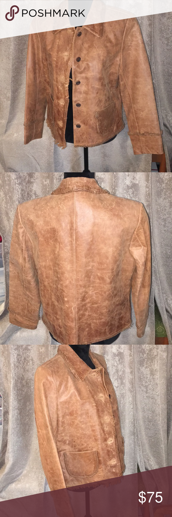 Vintage Wrangler Distressed Leather Jacket Vintage Wrangler Distressed Leather Jacket Distressed Leather [ 1740 x 580 Pixel ]