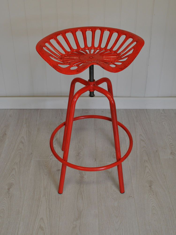 Tractor Seat Design Garden Stool In Red By Fallen Fruits