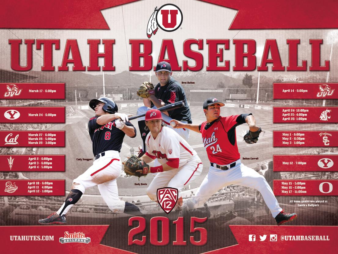 Utah Baseball Poster (2015) Baseball posters, Sports