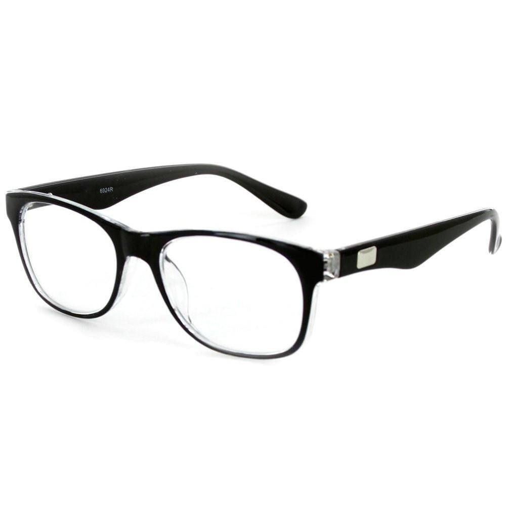 Casual Fashion Horned Rim Half Frame Rectangle Clear Lens Horn Rimmed  Glasses in 2019  47a83520026e8