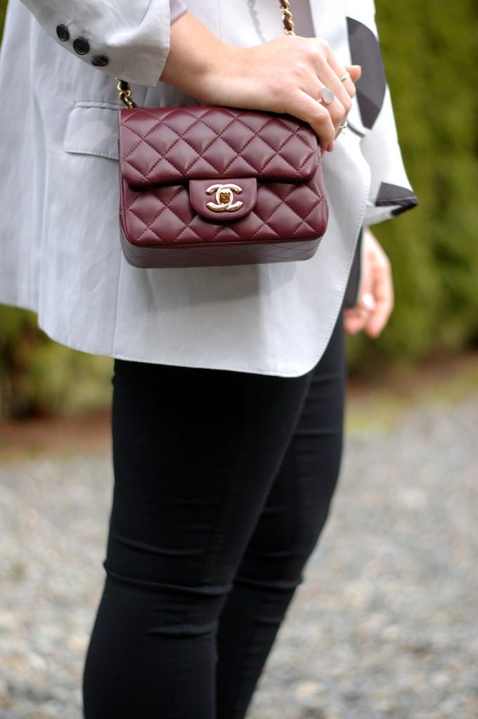 c0f6761dfacb Chanel Mini Flap bag in Burgundy Lambskin <3  (www.covetandacquire.blogspot.ca)