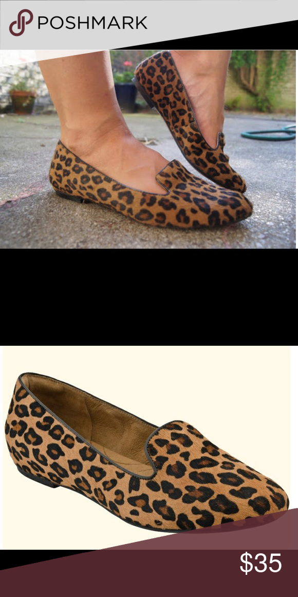Clarks Leopard Calf Hair Flats 6M