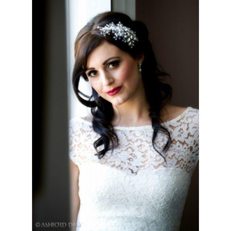 Florence Bridal Side Headband Wedding Hair Pinterest