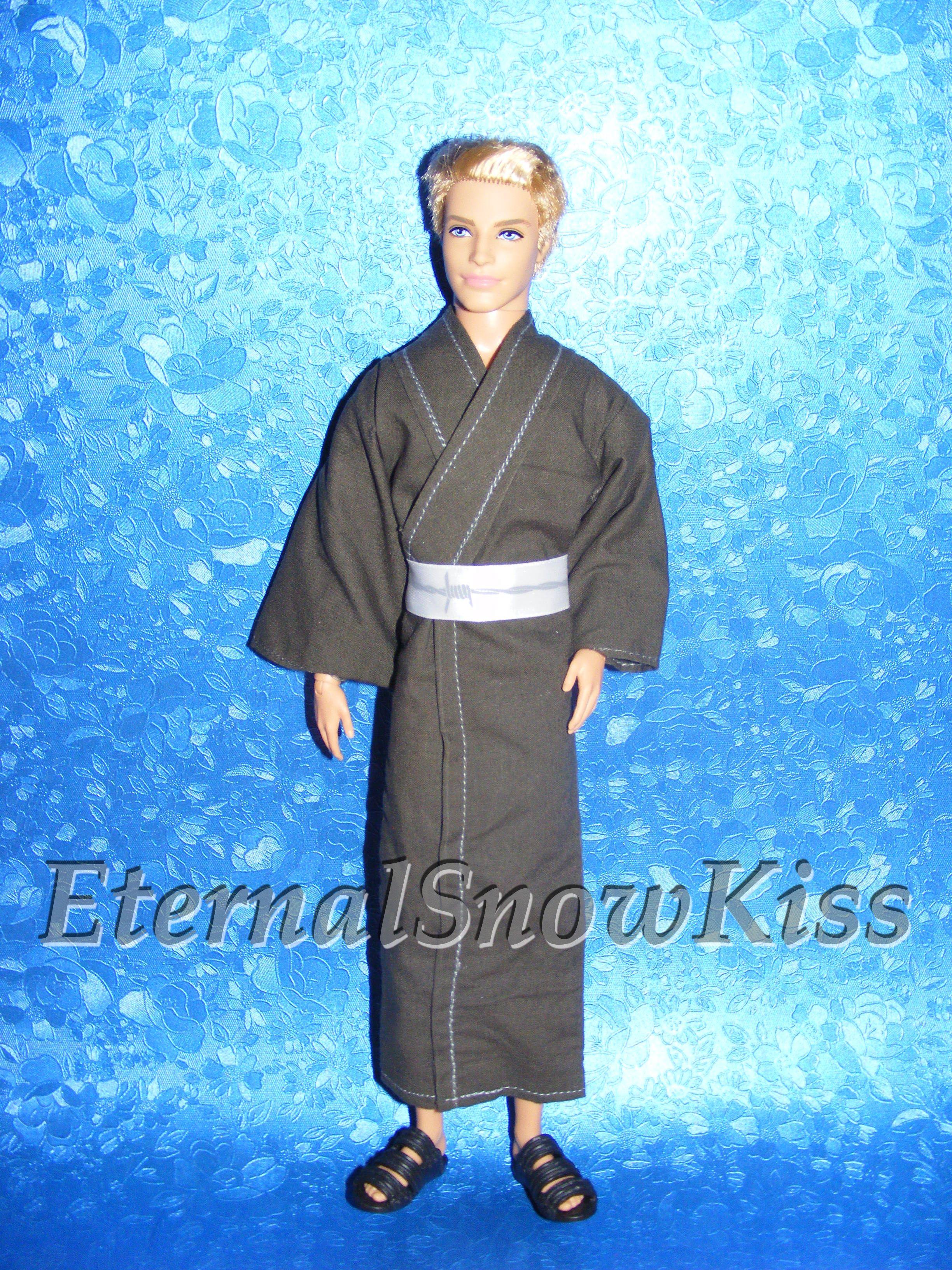 How To Make Kimono Yukata For Dolls Barbie Costume How To Make Kimono Doll Tutorial