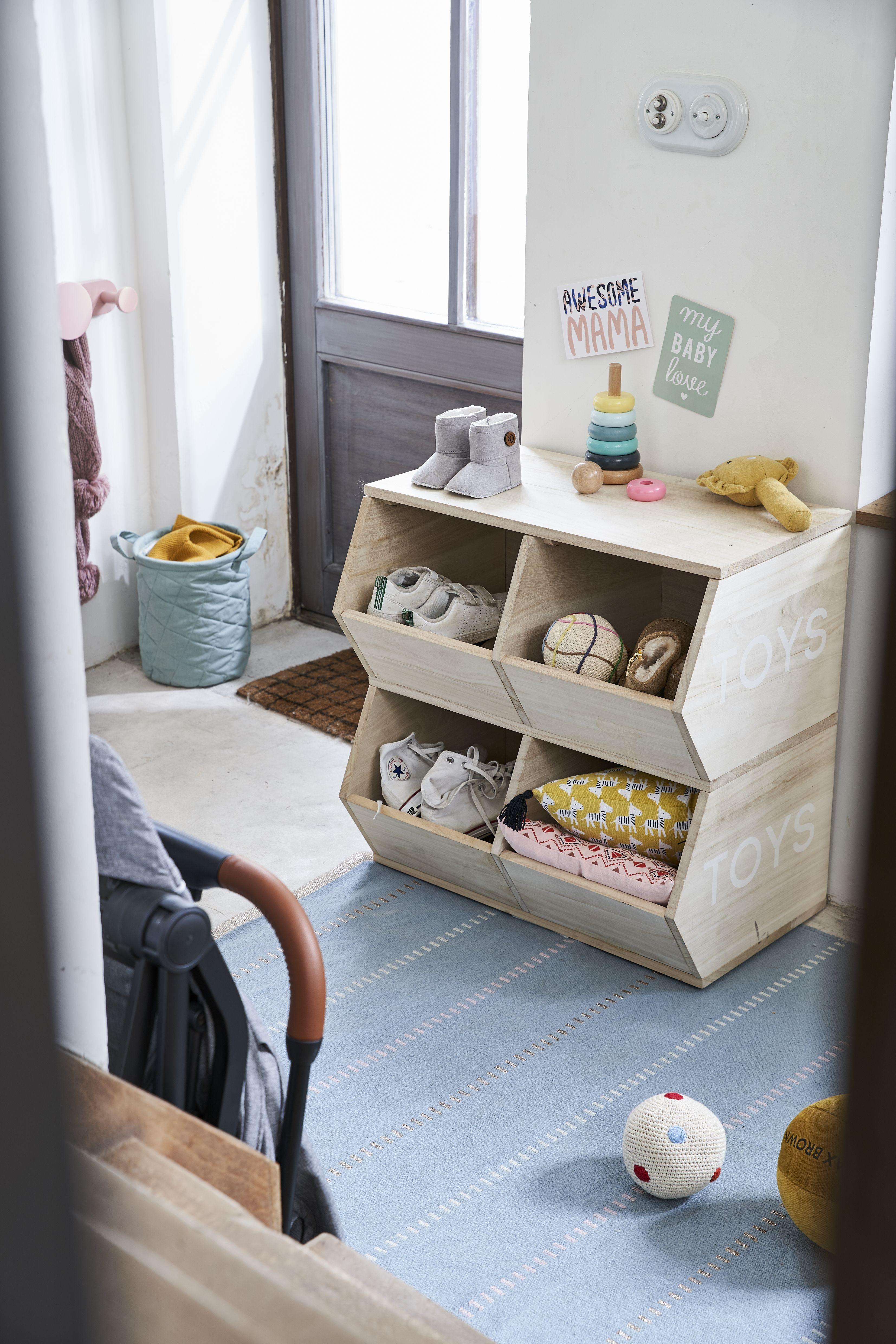 Cube De Rangement Toys Bois Vertbaudet Meuble Rangement Enfant