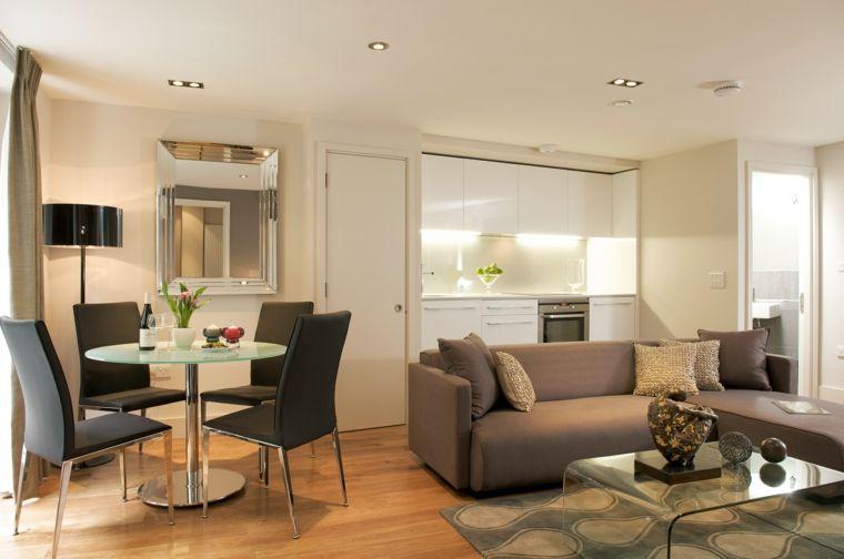 soluzione per come arredare un soggiorno rettangolare con