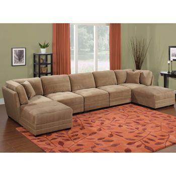 Best Canby Fabric 7 Piece Modular Sectional Modular Sectional 400 x 300