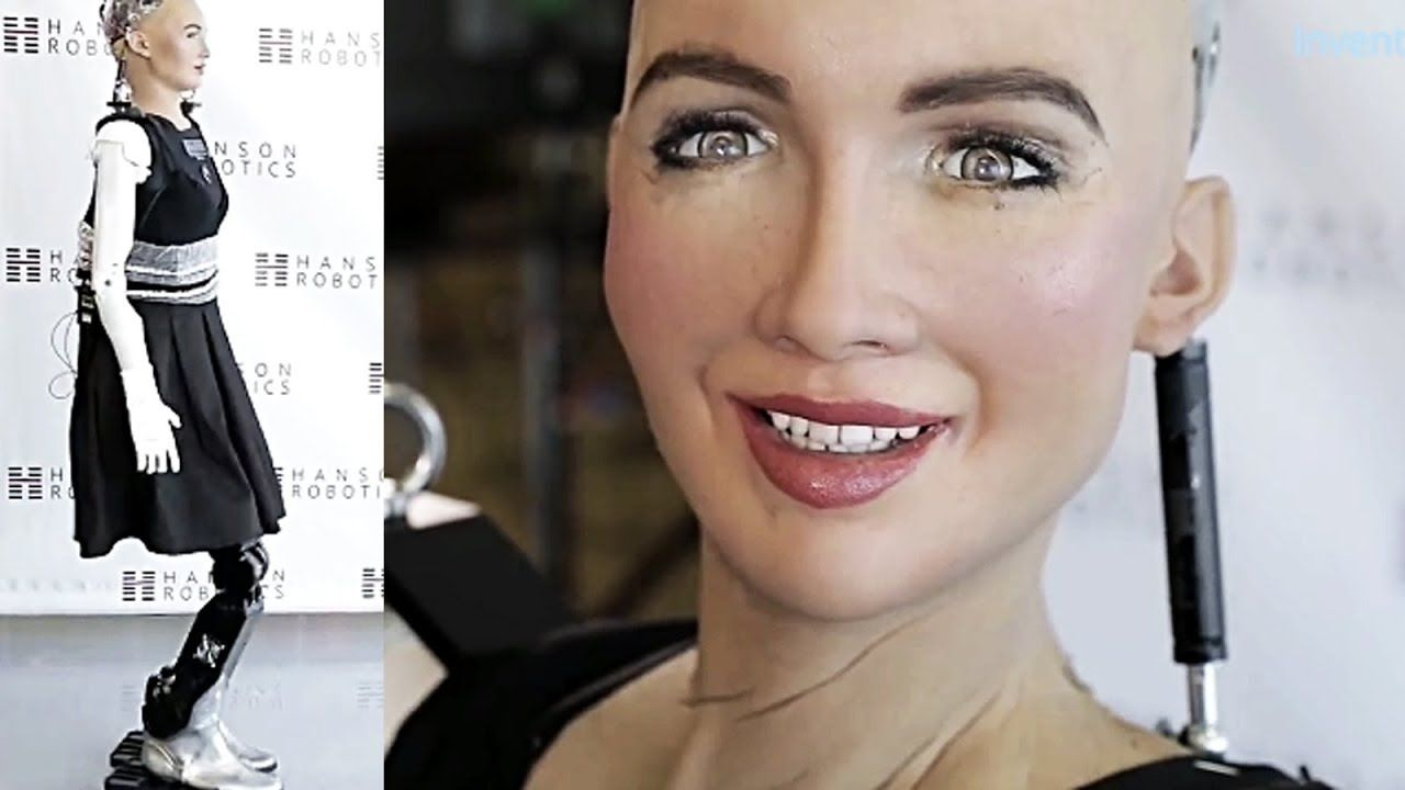 Sophia The Humanoid Robot Can Walk Now She Is So Happy Real Lifelike Representation Of Circuit To Get A Better Look