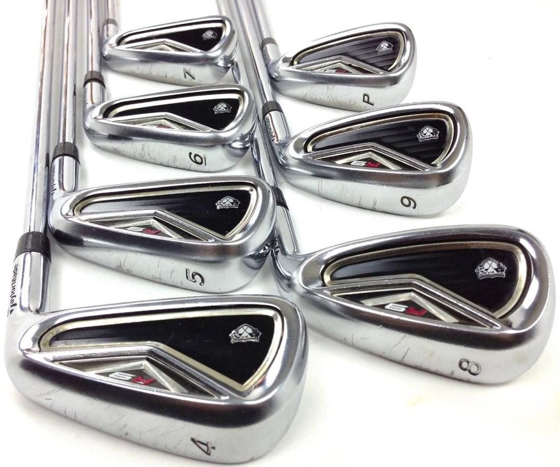 Taylormade R9 Tp Iron Set 4 Pw 7pc Project X 5 5 Flighted Steel Golf Clubs These Taylormade R9 Tp Irons Have Scratches And Dings Ironing Set Golf Clubs Iron