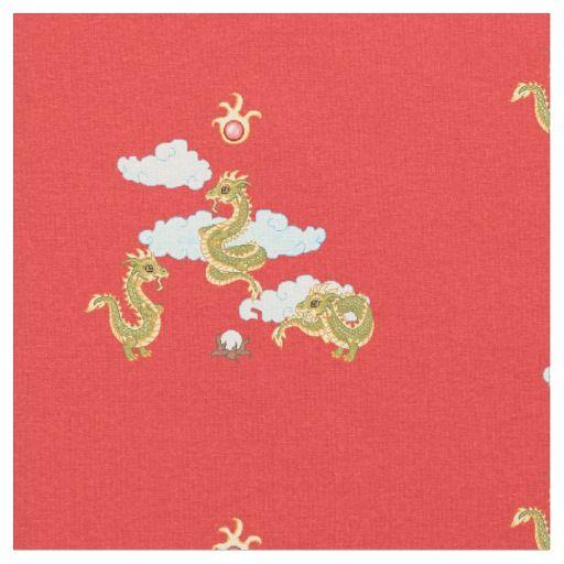 Tríada china del dragón telas