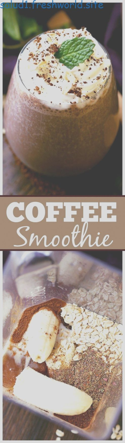 Coffee Smoothie - The perfect way to start your morning with coffee oats flaxsee..., Coffee Smoothie - The perfect way to start your morning with coffee oats flaxsee...,