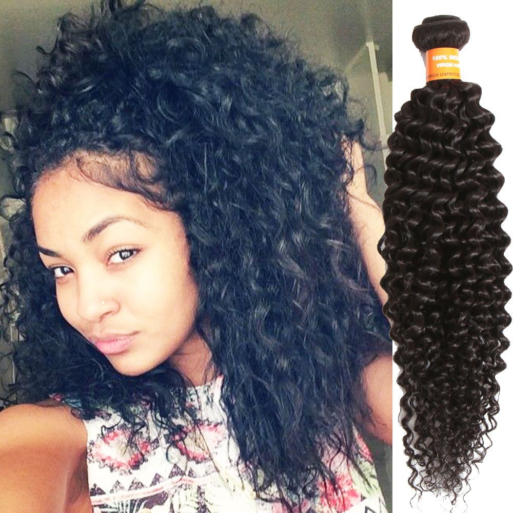 Details about curly wave natural black 50g indian real human hair curly wave natural black 50g indian real human hair extension remy hair wefts wigiss pmusecretfo Image collections