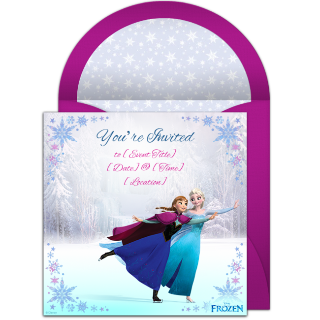 Free Frozen Ice Skating Invitations In 2019 These Are A Few Of My