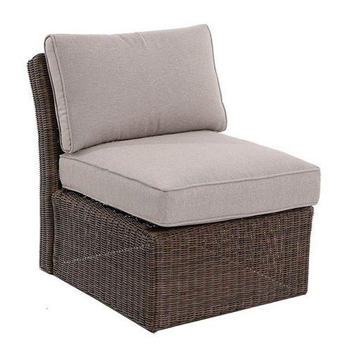 Brampton Armless Wicker Patio Chair
