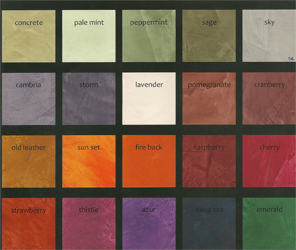 Plaster Paint Colors : Venetian colors plaster tinted to custom color