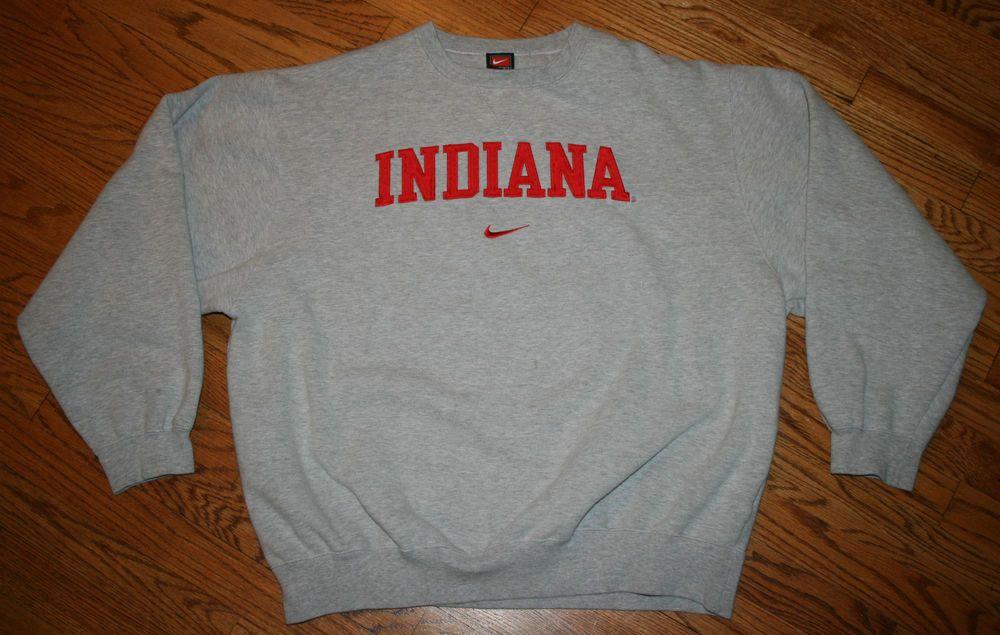 b38e9bcf0bb11 Indiana University Nike Sweatshirt Adult X-Large gray IU Shirt #Nike ...