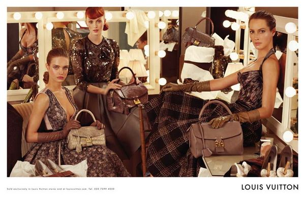 Advertising Campaign Louis Vuitton Fall 2010 Photographer: Steven Meisel Model: Christy Turlington, Natalia Vodianova, Karen Elson