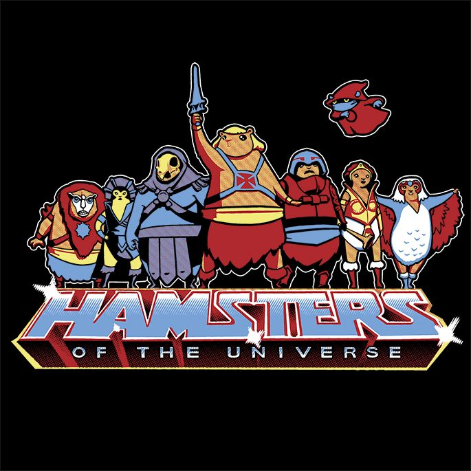 HAMSTERS OF THE UNIVERSE T-Shirt | $10 Masters of the Universe tee with hamsters!