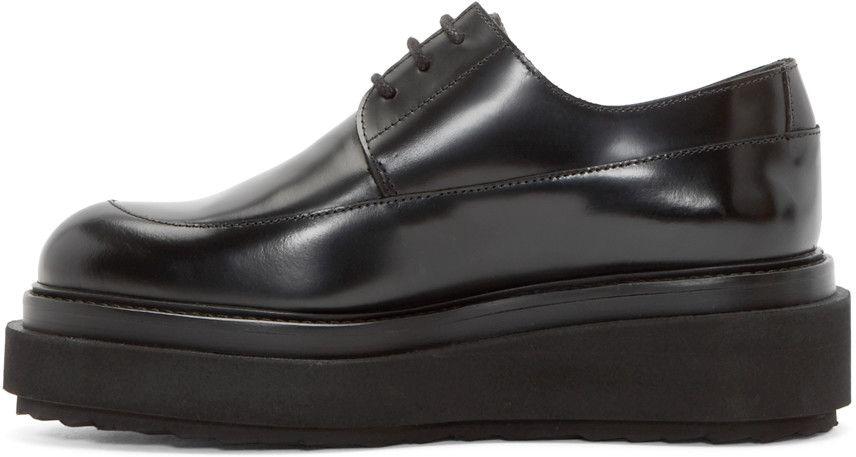 Pierre Hardy Black Leather Billy Platform Derbys