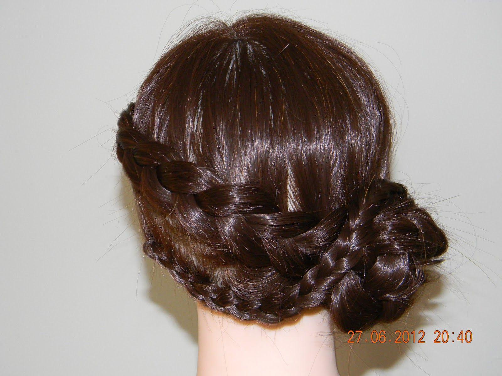Fancy glam wedding go for braided bun everlasting hairstyle