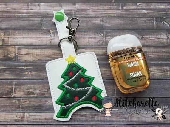 Christmas Tree Hand Sanitizer Holder Pocketbac Holder Hand