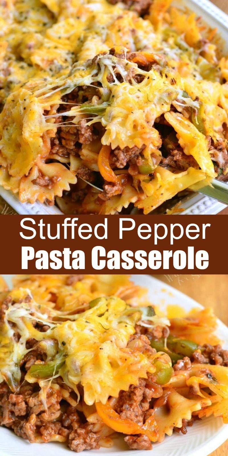Stuffed Pepper Casserole In 2020 Stuffed Peppers Recipes Stuffed Pepper Casserole