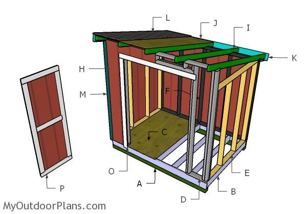 6x8 Lean To Shed Roof Plans Myoutdoorplans Free Woodworking Plans And Projects Diy Shed Wooden Playho Lean To Shed Plans Lean To Shed Shed Building Plans