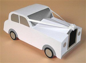 card making templates for opening wedding car display box paper