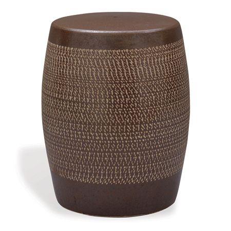 Astonishing Brown Ceramic Garden Stool Ceramic Garden Stools Ceramic Ncnpc Chair Design For Home Ncnpcorg