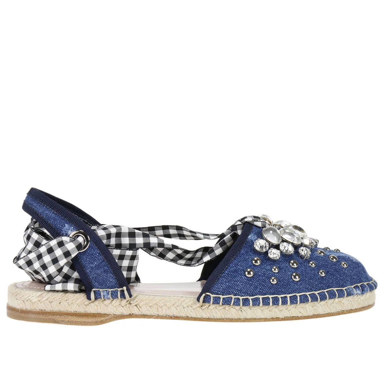 MIU MIU FLAT SHOES SHOES WOMEN MIU MIU.  miumiu  shoes    c225e32e12