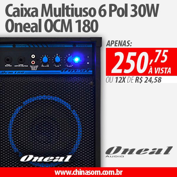 Caixa Multiuso 6 Pol 30W Oneal OCM 180 Compre aqui:  Poucas unidades em estoque ;)  #oneal #onealaudio #multiuso #caixamultiuso #ocm180 #chinasom