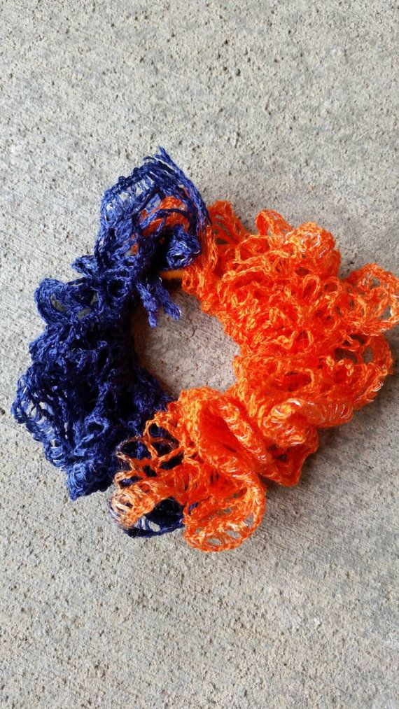 Check out this item in my Etsy shop https://www.etsy.com/listing/206877948/broncos-hair-tie