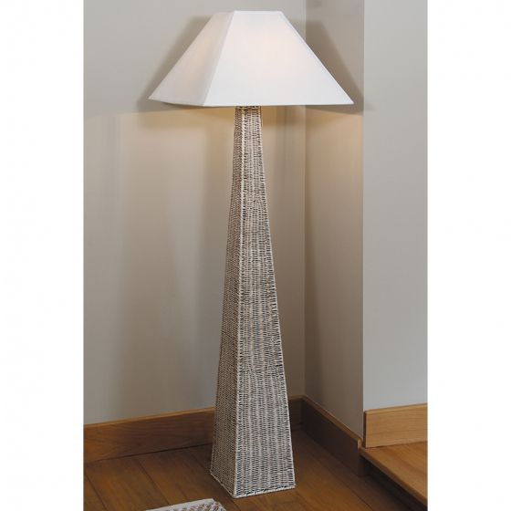 Rattan Pyramid Floor Lamp Base Only (+Free LED Colour changing ...