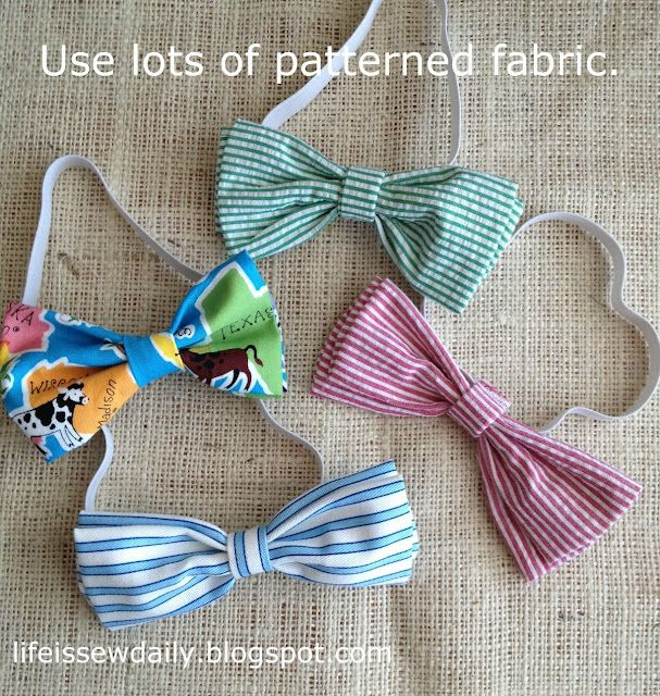 Bow Ties for Baby & Toddler. These look quick and easy to make.