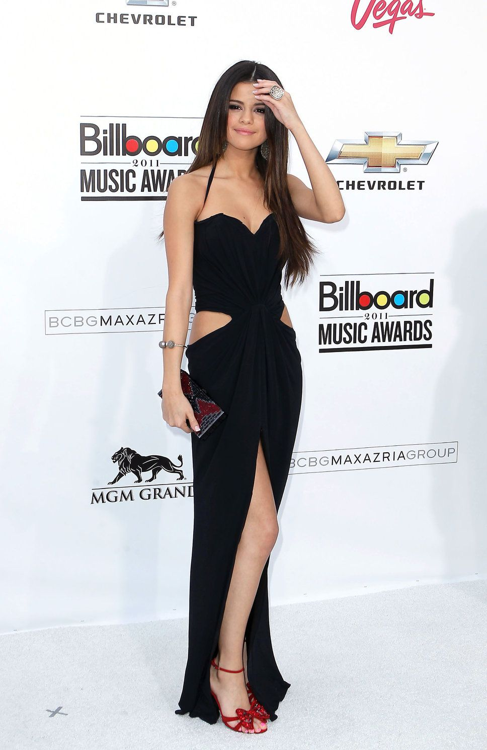 SELENA GOMEZ in black | Selena Gomez Cut Out Black Dress photo ...