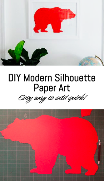 DIY Modern Bear Silhouette Paper Art - Go Haus Go