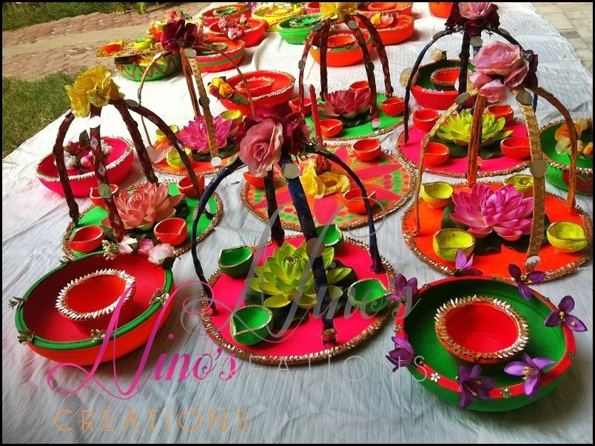 Mehndi Thaal Decoration Ideas I : Facebook pages ninos creations